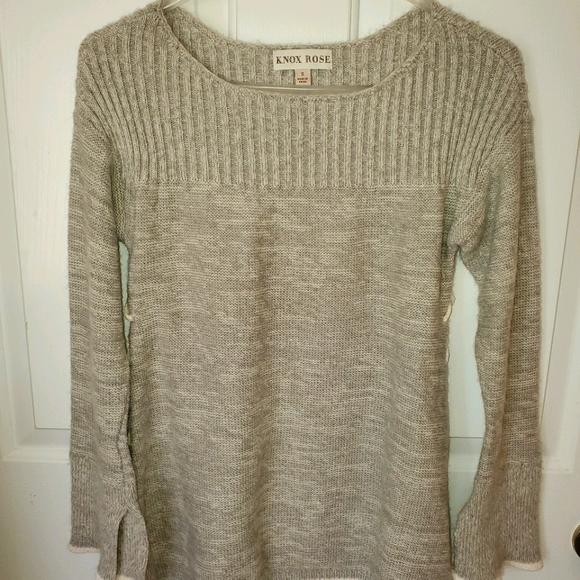Knox Rose Gray Fuzzy Sweater sz S
